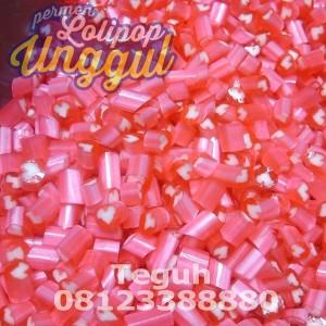 Hati pink Roll Candy Unggul