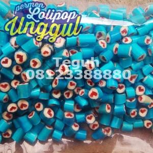 hati biru pink roll candy Unggul