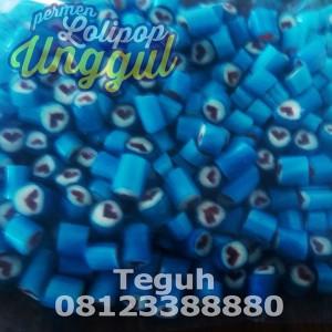 hati biru roll candy unggul